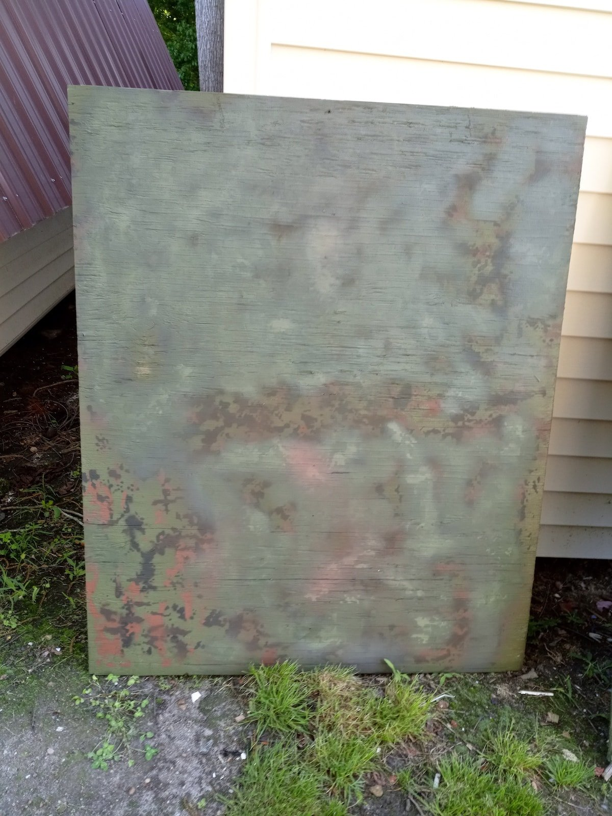 Duck Blind Camoflage Test Boards