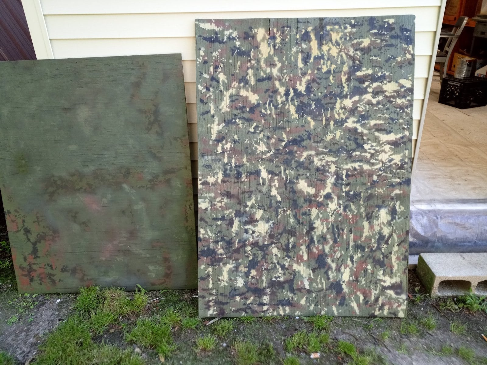 Final Duck Blind Camoflage Test Board