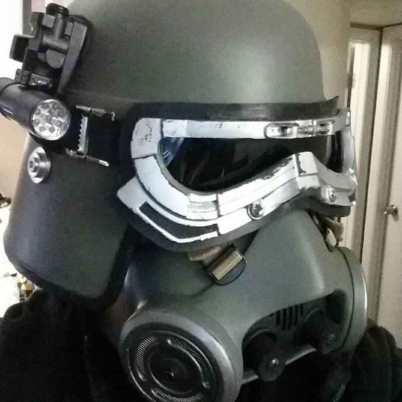 Mudtrooper Helmet before Pantone 433 U Paint
