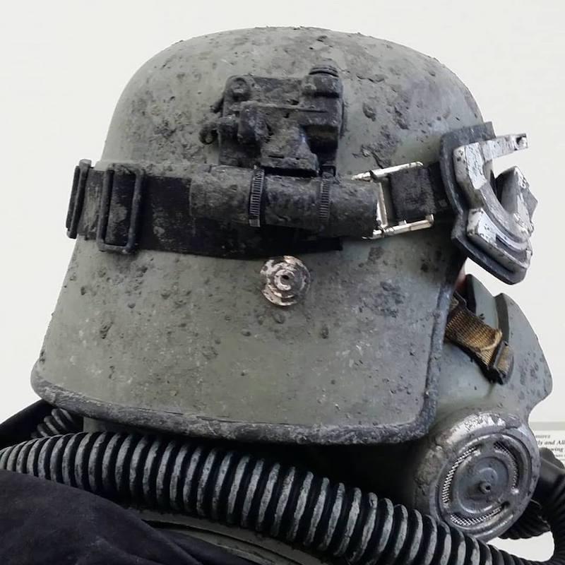 Mudtrooper Helmet after Pantone 433 U Paint from MyPerfectColor