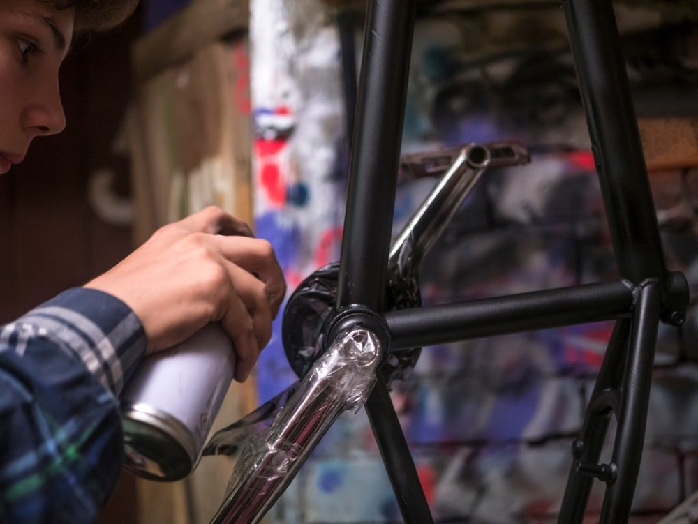 Bicycle Paint Spray Paint Touch Up of Powder Coating - MyPerfectColor.com