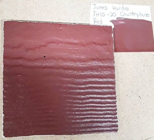 James Hardie Countrylane Red JH90-20 paint color match by MyPerfectColor