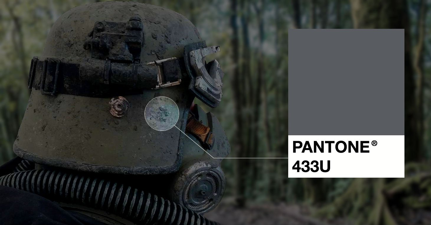 How MyPerfectColor matched Star Wars SOLO Mudtrooper Pantone 433 U Paint